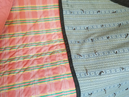 Single fabric Quilts made by Mary Hansen