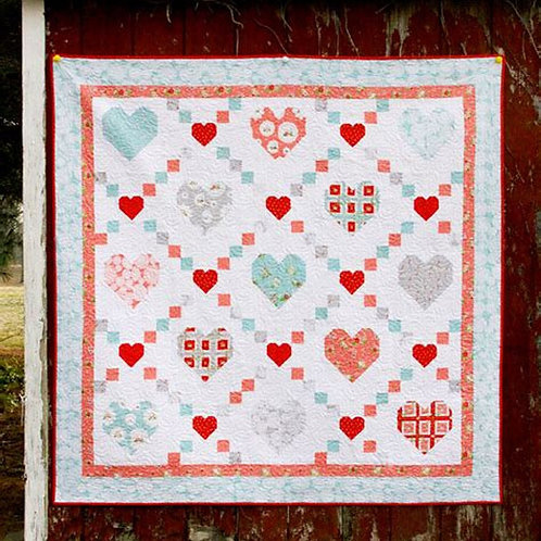 Hearts & Kisses Quilt Kit Featuring Vintage Keepsakes by Beverly McCullough (Fla