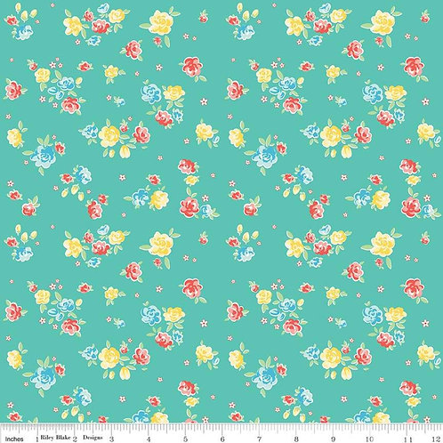 Bunnies & Blossoms Blossoms Teal