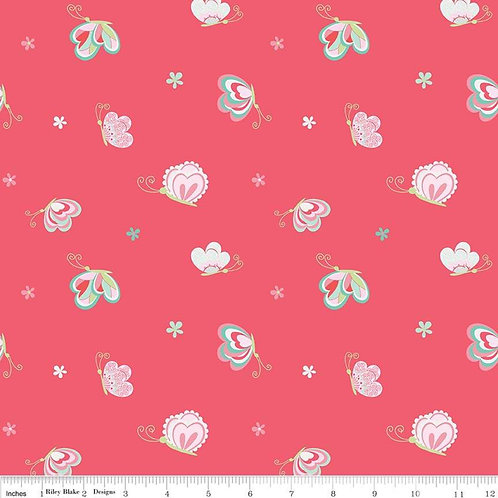 Butterflies & Berries Butterflies Hot Pink