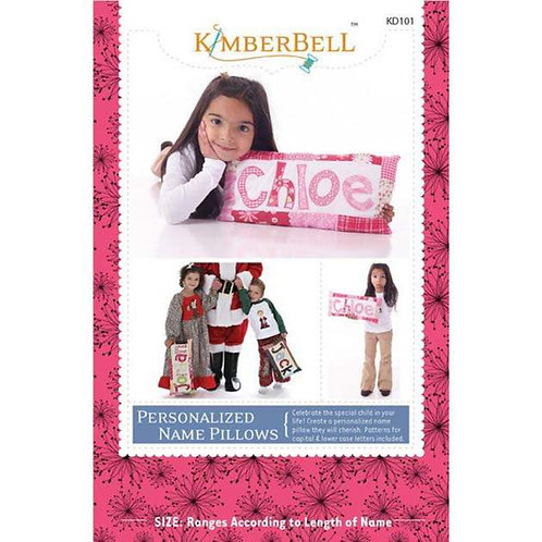 Kimberbell Personalized Name Pillow Pattern