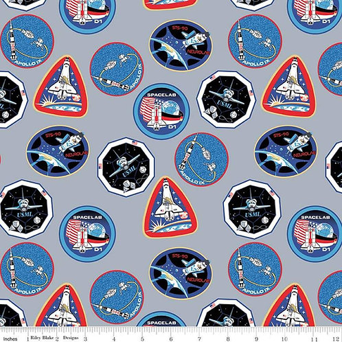 Out of this World with NASA Patches Gray