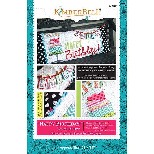 Kimberbell Happy Birthday Bench Pillow