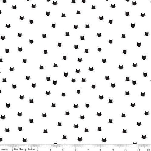 Flannel Meow Dot White