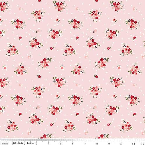 Flannel Sweet Prairie Posies Pink