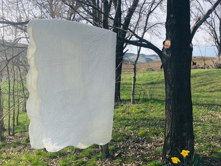 Hand stitched White quilt