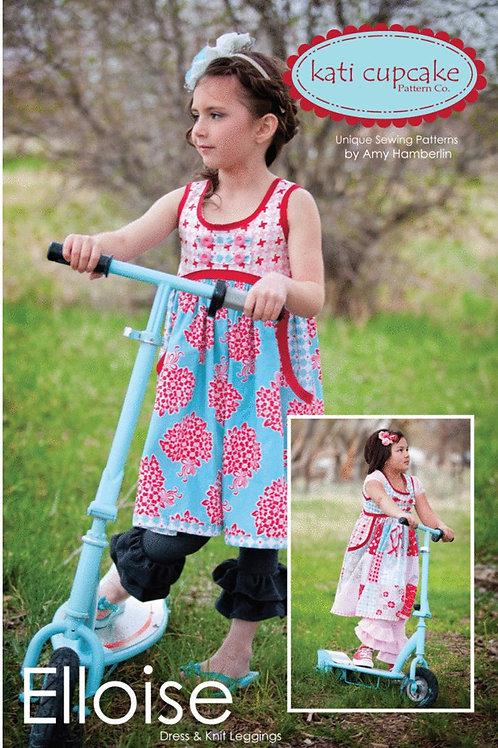 Elloise Dress and Knit Leggings Pattern by Kati Cupcake Pattern Co.