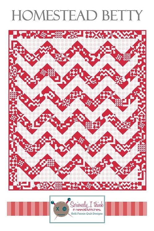 Homestead Betty Quilt Pattern by Kelli Fannin Quilt Designs