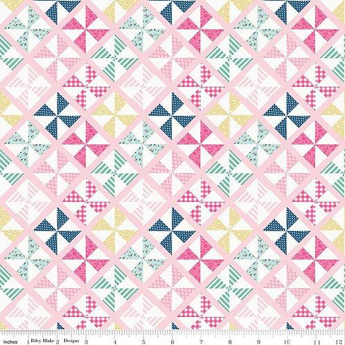 I'd Rather Be Glamping Pinwheels Pink