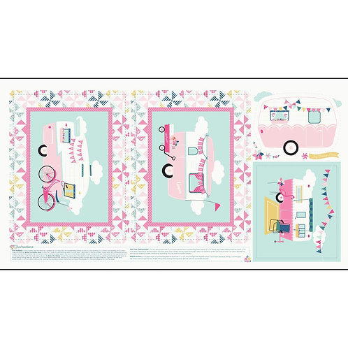 I'd Rather Be Glamping Panel Pink
