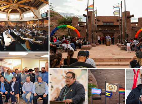 History is made. The Navajo Nation Council uplifts Diné Pride Week & supports the LGBTQ+ Community