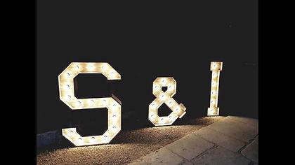 Rustic 4ft Illuminated Letter Light