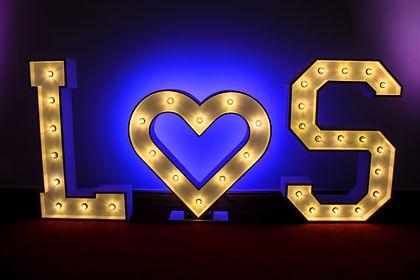 White 4ft Illuminated Letter Light