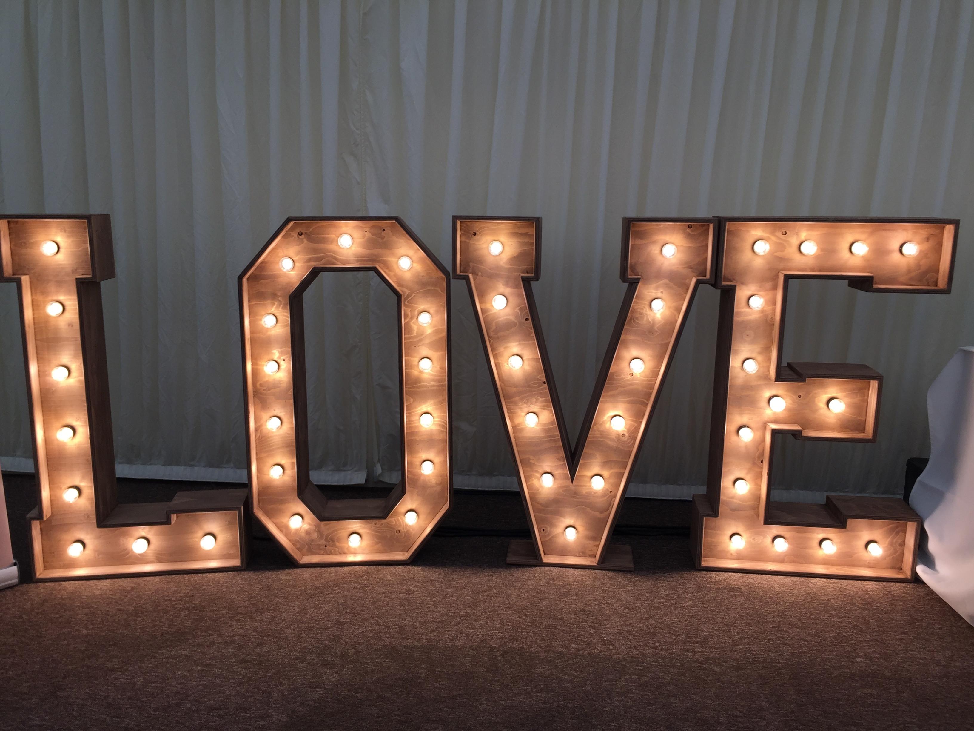 Rustic Illuminated 'LOVE'