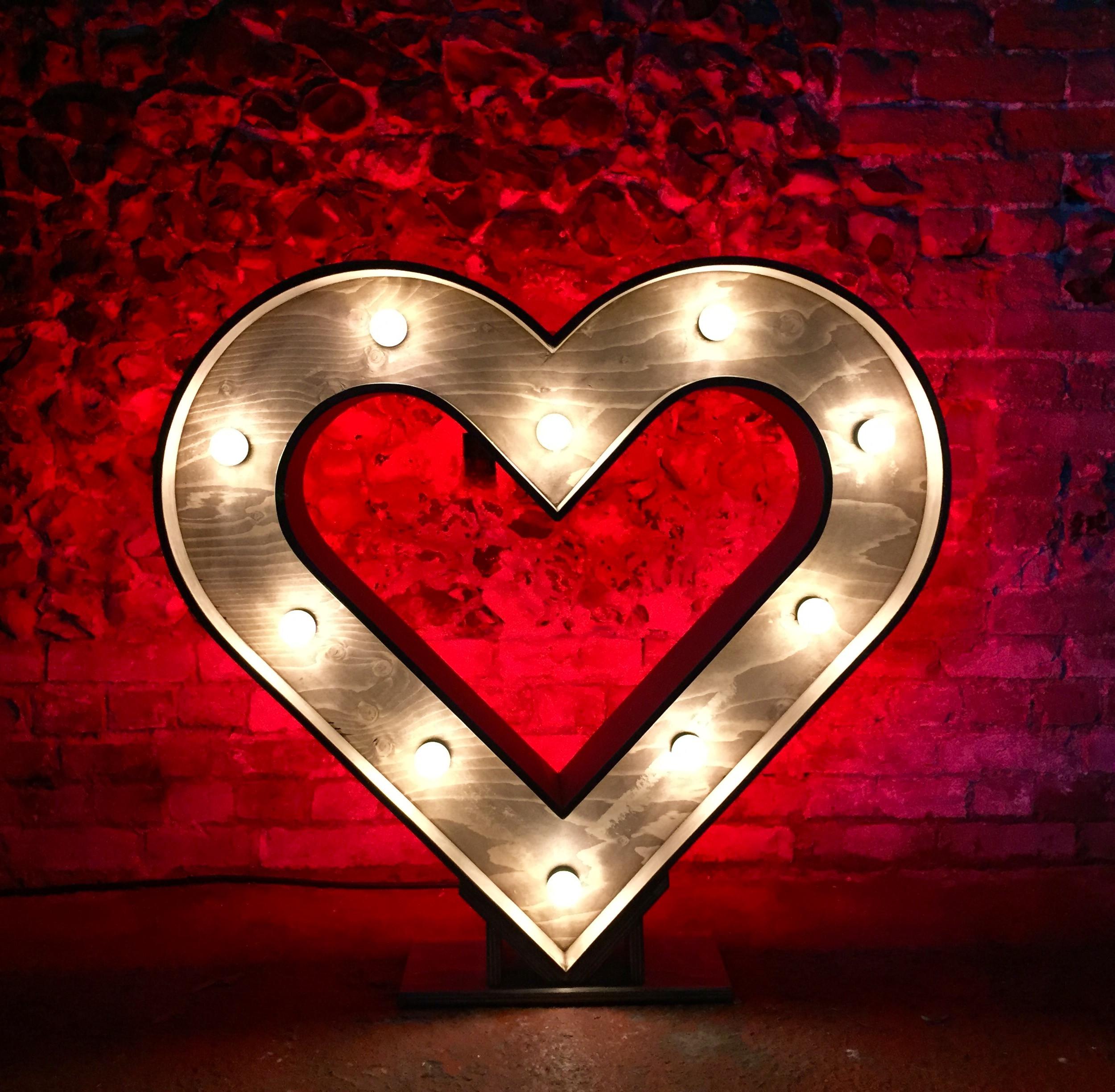 Rustic Illuminated Heart