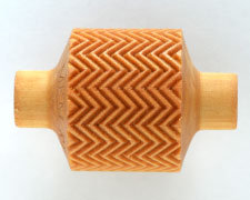 RM016  3CM ROLLER, SMALL ZIGZAG