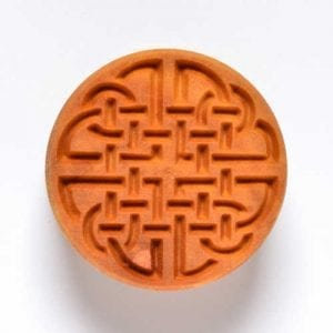 SCL007  4 CM ROUND STAMP CELTIC KNOT 1