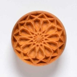 SCL011  4 CM ROUND STAMP, ROSE WINDOW 1