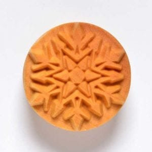 SCL010  4 CM ROUND STAMP, SNOWFLAKE