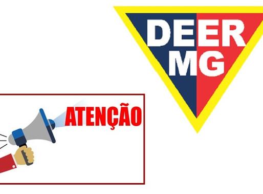ATENÇÃO! RESTRIÇÃO DEER/MG DE FIM DE ANO