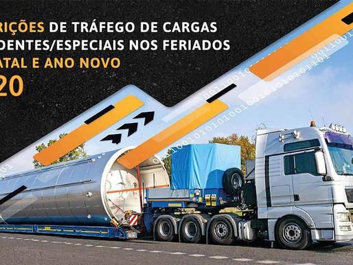 RESTRIÇÕES DE TRÁFEGO DE CARGAS EXCEDENTES (ESPECIAIS) NOS FERIADOS DE NATAL E ANO NOVO 2020/2021
