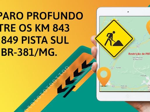 Restrição temporária de tráfego BR381/MG - Fernão Dias.