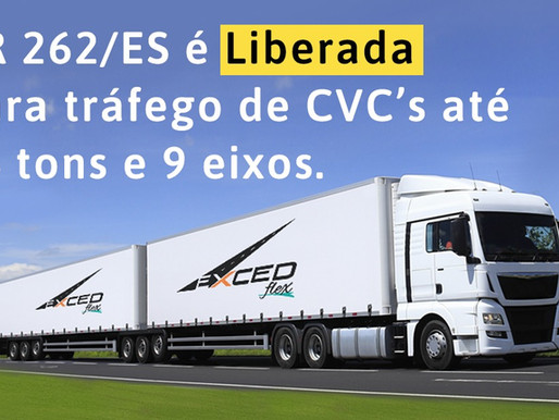 BR 262/ES - TRECHO LIBERADO PARA OS CVC's DE 9 EIXOS