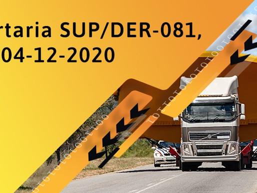 Portaria SUP/DER-081, de 04-12-2020