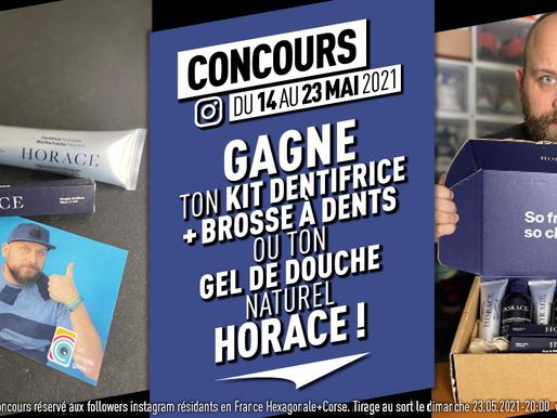 #Concours : Gagne ton kit brosse à dent + dentifrice ou ton gel de douche naturel Horace* !