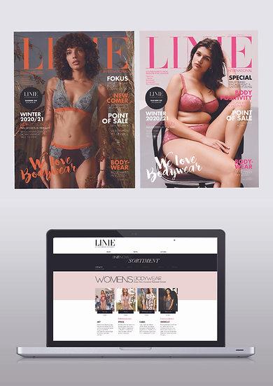 LINIE TREND + LINIE NOW / ABO  Print-Edition + Onlineportal  Versandregion: Welt