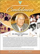 Condolence ad for Edward Hopkinson - FPF