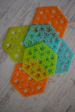 Posavasos Flor Triangular