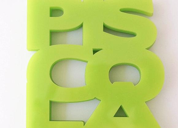 Posavasos Piscola Verde