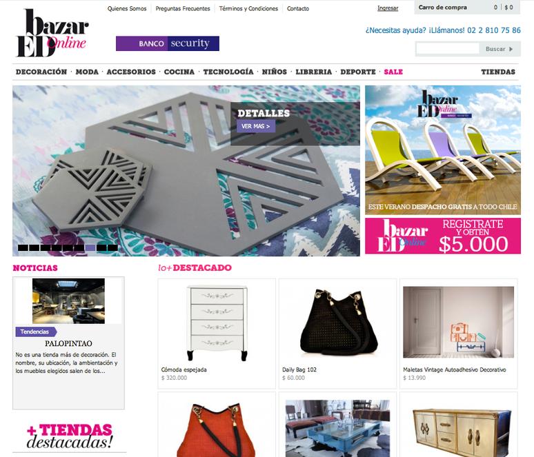 Publicacón en Bazar ED online