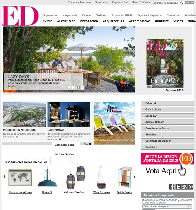 Página web Revista ED