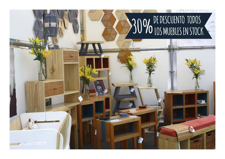 30% OFF en stock de muebles