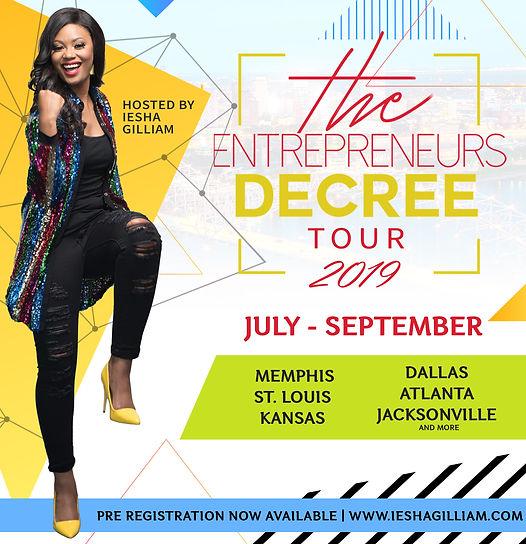 The Entrepreneurs Decree Tour_City Annou