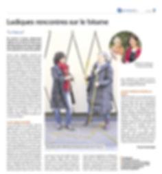 """Article paru dans le journal """"Nouvelles"""""""