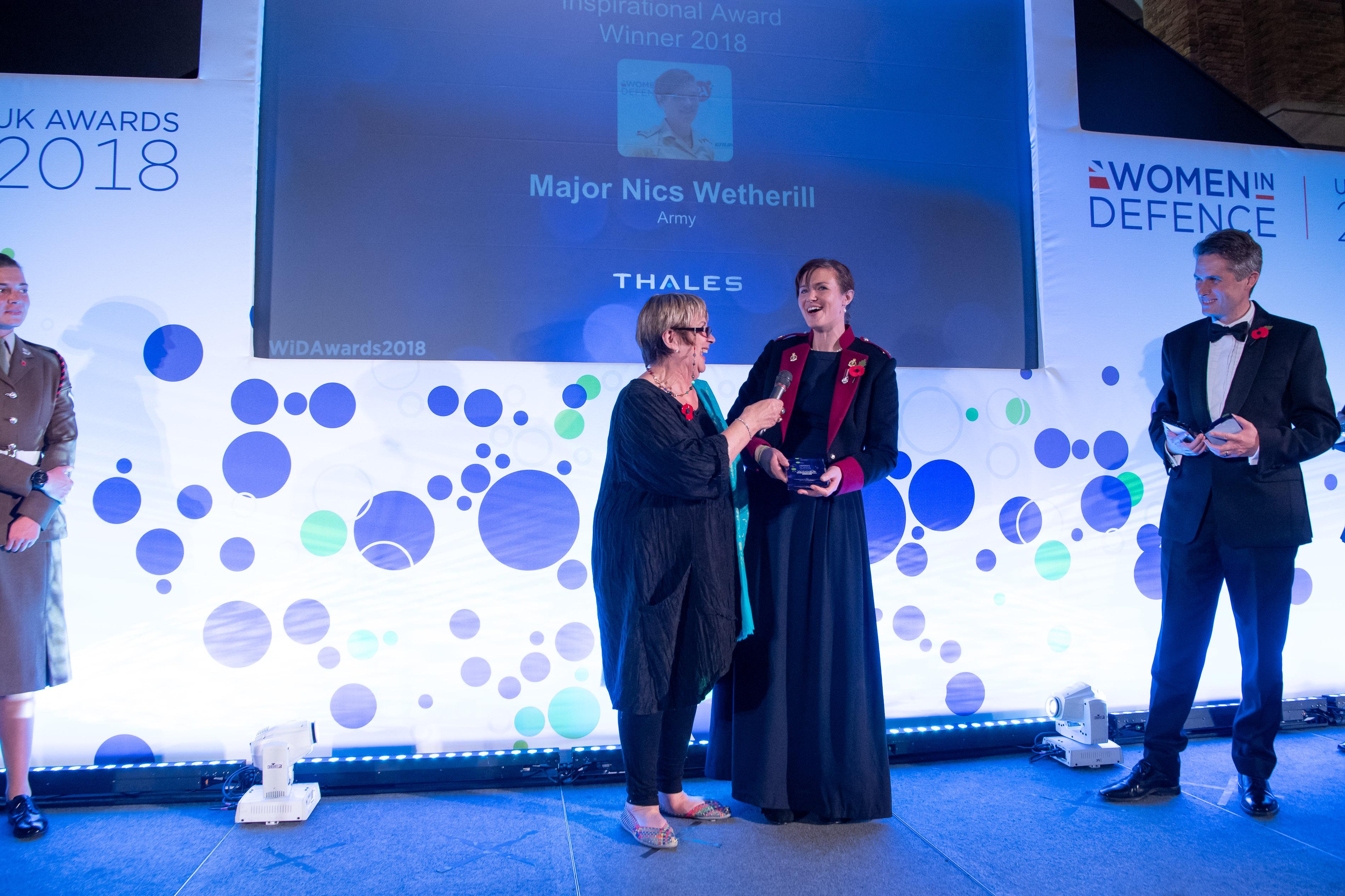 Inspirational Award Nics Wetherill