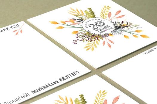 BeautyHabit Thank You card
