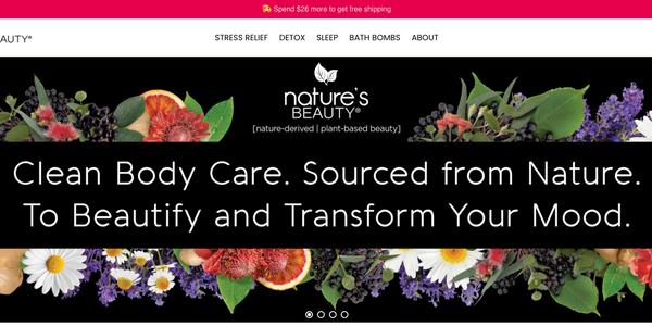 Nature's Beauty Web design