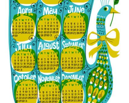 2012 Calendar Towel