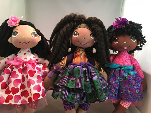 black, biracial, multi-ethic dolls