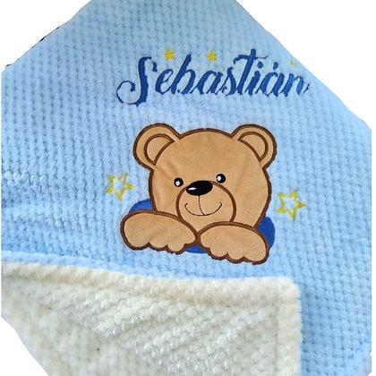 Cobija de oso para bebé