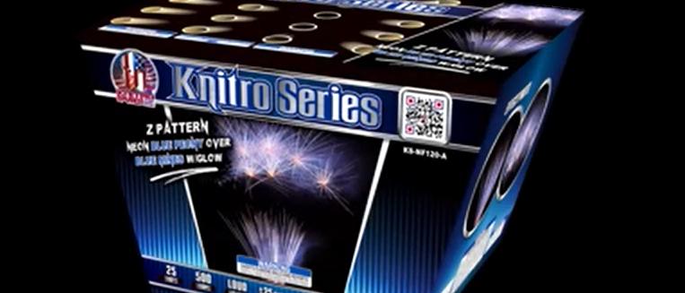 KNITRO PYRO SERIES NEON BLUE PEONY OVER BLUE MINES W GLOW