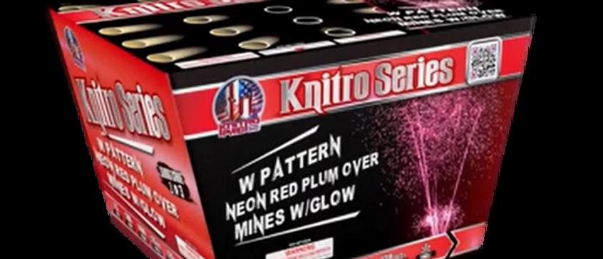 KNITRO SERIES W PATTERN NEON RED PLUM OVER MINES W GLOW