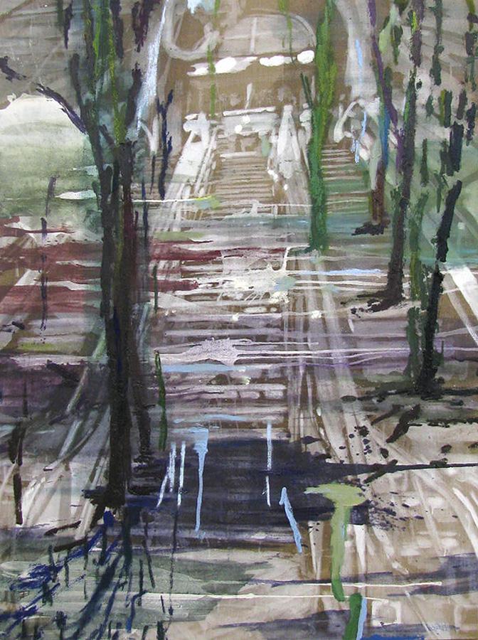 Samtidigt, skov,160 x 120 cm, 2017