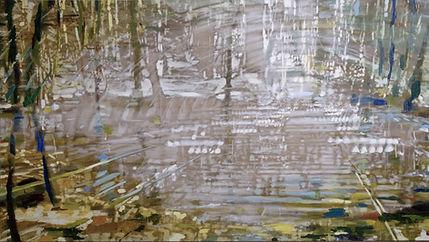 Senere vinter, 180 x 360 cm, Karen Gabel
