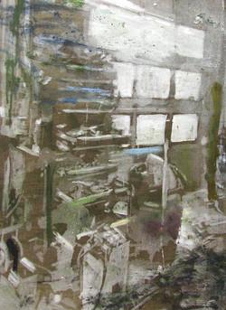 Naser på arbejde II, 80 x 60 cm, 17