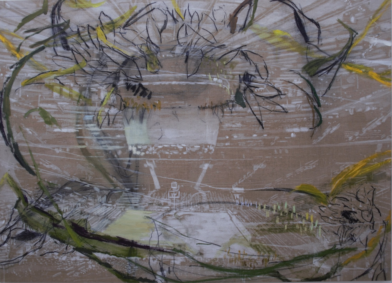 Frejdig runde 130 x 180 cm, 2019.